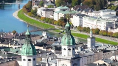 The panorama of Salzburg Stock Footage