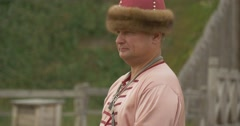 Actor as Prince Vladimir, Vladimir The Great, Baptiser of Kievan Russ Is Stock Footage
