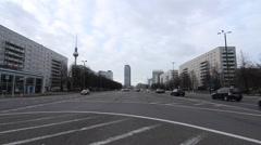 Karl Marx Allee in Berlin - stock footage