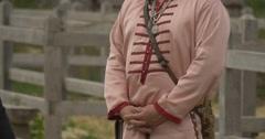 Actor as Prince Vladimir, Vladimir The Great, Baptiser of Kievan Russ Closeup, Stock Footage