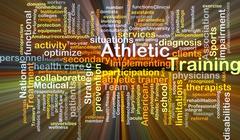 Athletic training background concept glowing Stock Illustration