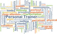 Personal trainer background concept Stock Illustration