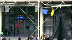 ULTRA HD 4K real time shot,Centre Georges Pompidou PARIS Stock Footage