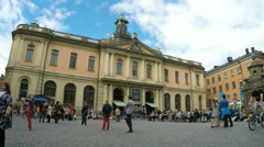 Nobel museum in Old Town - Stockholm in Summer sunshine Stock Footage