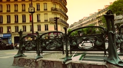 ULTRA HD 4K real time shot,The People use metro in Paris Stock Footage