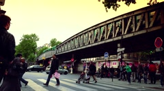 Stock Video Footage of ULTRA HD 4K real time shot,The People use metro in Paris