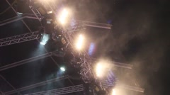 Concert Stage Lights 3 Stock Footage
