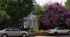 Typical Washigton DC Residence Establishing Shot - stock footage