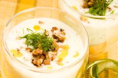 Stock Photo of Tarator - traditional bulgarian cold summer soup