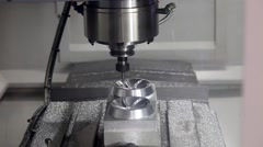 Milling machining centers CNC for metal processing Stock Footage