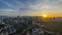 Timelapse 4k beautiful sunrise of Kuala Lumpur city Stock Footage