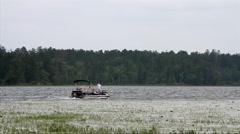 Lake Itasca Minnesota 03 - Fishing Boat Stock Footage