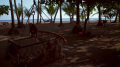 Dolly shot of beach resort grounds Stock Footage