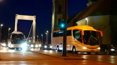 Evening traffic in Budapest Stock Footage