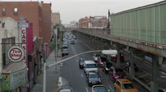 Atlantic Avenue, Long Island Railroad in Crown Heights, Brooklyn. - stock footage