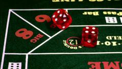 Casino Dice Lands On Ten Slow Motion - stock footage
