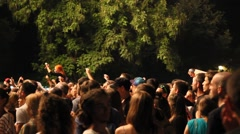 Concert Young Crowd on music festival full HD - stock footage