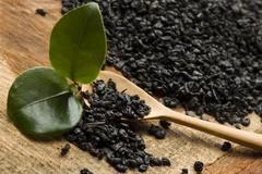 Fresh and dried tea - stock photo