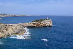 Stock Photo of Morro de Sa Carabassa Porto Cristo Majorca Balearic Islands Spain Europe
