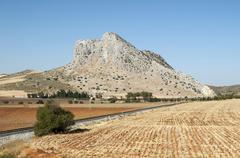 Pena de los Enamorados Lovers Rock near Antequera Andalusia Spain Europe - stock photo