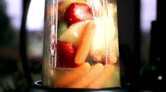 Fruit and Vegetable Juice prepared in Slow Motion Stock Footage