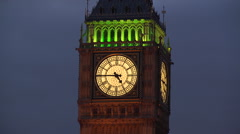 Big Ben Clock face London - stock footage