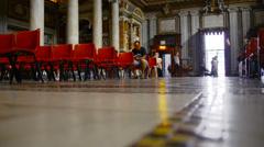 Basilica of St. Mary Major interiors Stock Footage