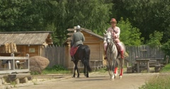 Three Actors as Prince Vladimir The Great, Baptiser of Russia, And Two His Stock Footage