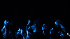 Concert Crowd on Music Festival full HD Stock Footage