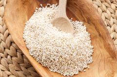 Amaranth popping, gluten-free, high protein grain cereal - stock photo
