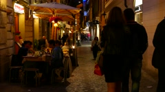 Nightlife in Rome Stock Footage