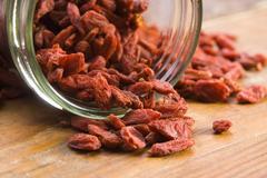 Red dried goji berries - stock photo