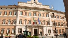 The Palazzo Monteciterio in Rome Stock Footage