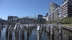 Stock Video Footage of Docklands area of Melbourne, Australia