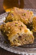 Baklava - traditional middle east sweet desert - stock photo