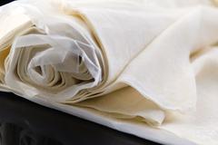 Filo - ready made dough leaves, fillo, phyllo - stock photo