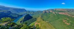 Stock Photo of Blyde River Canyon and The Three Rondavels