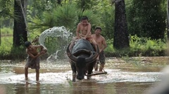 Thailand peasant family Stock Footage