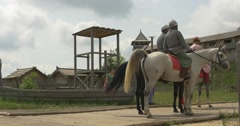 Actors' Backs, Men on a Horses, Actors Men and Women, Prince Vladimir The Great Stock Footage