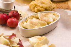 Apple pie ingredients - stock photo