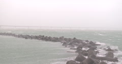 Strong Winds And Sea Spray In Hurricane Stock Footage
