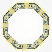 Blank background with money frame Stock Illustration