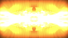 Kaleidoscopic effect of white, yellow, and orange light. - stock footage