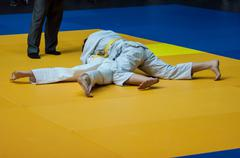 Stock Photo of Girls compete in Judo