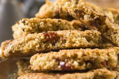 Freshly baked cranberry cookies - stock photo