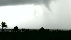 Awesome water spout / tornado over ocean in Mexico Stock Footage