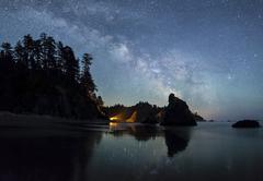 Stock Photo of Milky Way over Ruby Beach