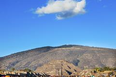 Moon Pyramid Avenue of Dead Teotihuacan Mexico City Mexico - stock photo