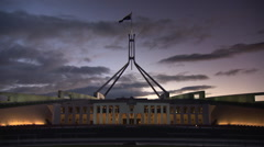 Stock Video Footage of Parliament House Canberra