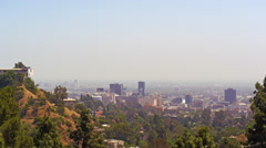 A view of the Los Angeles skyline Stock Footage